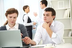 People work in office Royalty Free Stock Photo