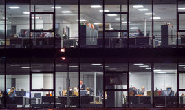 People work in an office building Stock Image