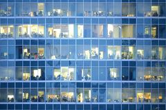 People work in the offices buildings. Royalty Free Stock Photos