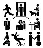 People at work - pictograms Stock Photos