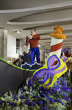 People at work preparing  carnival San Remo Royalty Free Stock Photo