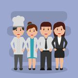 People workers characters professional group. Vector illustration Royalty Free Stock Photo