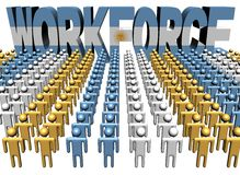 People with workforce Argentina flag text Royalty Free Stock Image