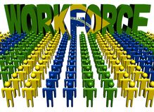 People with workforce Brazilian flag text Royalty Free Stock Photography