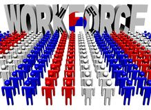 People with workforce Korean flag text Stock Photos