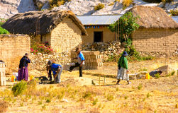 People Working in Bolivia Royalty Free Stock Photo