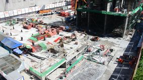 People working on Building Business Construction Site at Bangkok Thailand Royalty Free Stock Photo