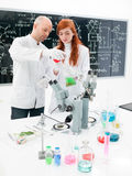 People working in a chemistry lab Stock Photo