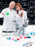 People working in chemistry lab Stock Photography
