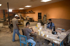 People working in a cigar factory Royalty Free Stock Photo