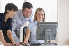 People Working on Computer Royalty Free Stock Images