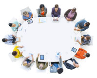 People Working in a Conference and Copy Space Royalty Free Stock Photography