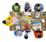 People Working in a Conference Photo Illustration.  stock image