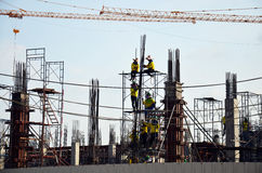 People working on Construction Site at Bangkok Thailand Royalty Free Stock Photo