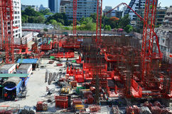 People working on Construction Site at Bangkok Thailand Royalty Free Stock Photography