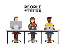 People working design. Vector illustration eps10 graphic royalty free illustration