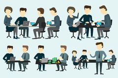 People working at the desk. Royalty Free Stock Images