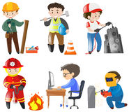 People working different jobs Royalty Free Stock Photos