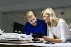 People working in fashion industry Stock Images