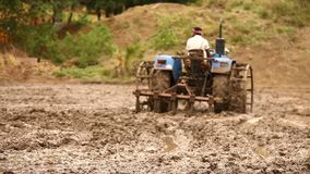 People working in the Fields stock footage