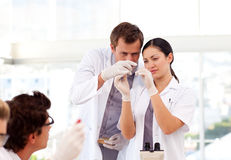 People working in a laboratory Royalty Free Stock Photography