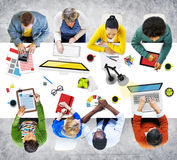 People Working in the Office Photo Illustration.  stock photography