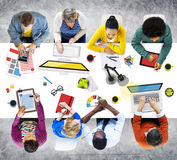 People Working in the Office Photos and Illustration Concept.  stock image