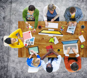 People Working in the Office Photos and Illustration Concept.  stock photography