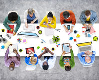 People Working in the Office Photos and Illustration Concept.  stock images
