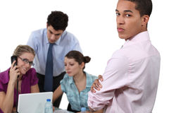 People working in an office royalty free stock photo