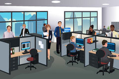 People working in the office stock illustration