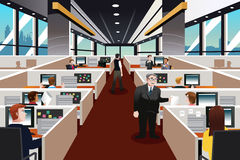 People working in the office. A vector illustration of people working in the office stock illustration