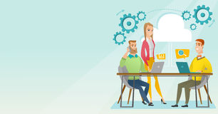People working in office vector illustration. Royalty Free Stock Images