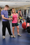 People Working Out At Gym Royalty Free Stock Images