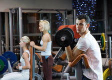 People working out in a gym Stock Photography