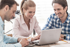 People working with reports Royalty Free Stock Images