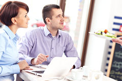 People working in a restaurant Stock Photos