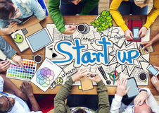 People Working with Startup Business Stock Photography