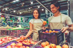 People working in the supermarket Royalty Free Stock Photography