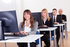 People working in a support centre Royalty Free Stock Photo