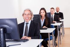 People working in a support centre Royalty Free Stock Photos