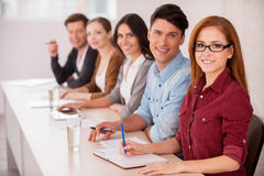 People working together. Royalty Free Stock Photo