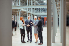 People working together in corporation Royalty Free Stock Photography