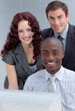 People working togother in a office Royalty Free Stock Image