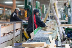People working in wood factory Royalty Free Stock Photography