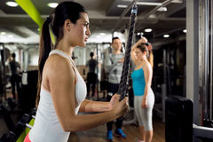 People workout at gym Royalty Free Stock Images