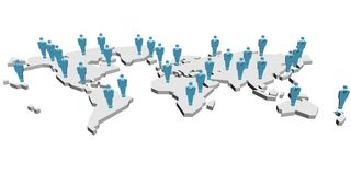People in the world. Business illustration stock illustration