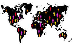 People of the world. Different people of the world united Stock Photo