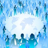 People of the World. A huge crowd of people surrounding the world Royalty Free Stock Photography