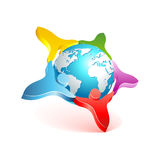 People world 3d icon. Vector design element Stock Photos